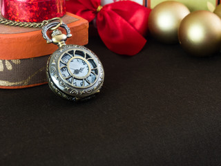 Antique watches with holiday decorations