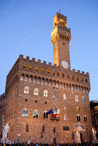 Foto op Canvas Milan Old Palace at evening, Florence