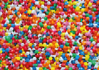Colorful Triangle Vector Background