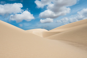 Sand dunes in Viana desert - Deserto de Viana in Boavista - Cape