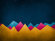 canvas print picture - Colorful Mountains - Background