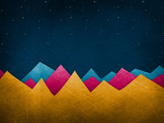 Colorful Mountains - Background