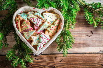 Gingerbread cookies for Christmas in the heart