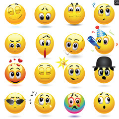 Vector set of smiley icons.
