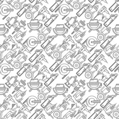 Seamless background for construction tools