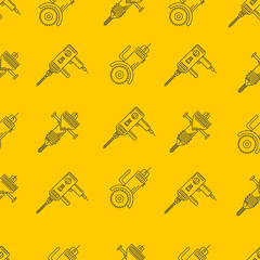 Yellow background for construction tools