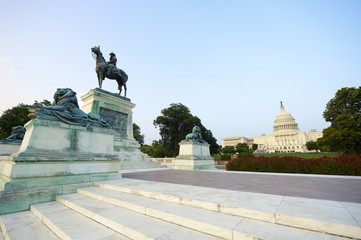 Washington DC Capitol Building Ulysses S Grant Memorial