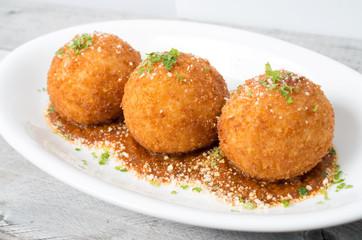 Italian risotto rice balls