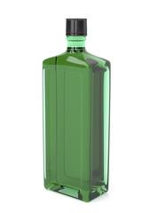 Green alcohol bottle