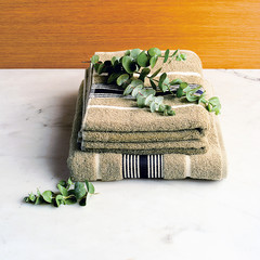 Eucalyptus on towel for healthy scent