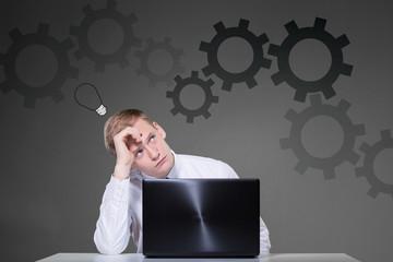 Businessman sitting at the desk