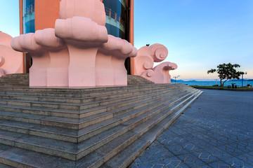 Part of Tower Lotus in Nha Trang Vietnam
