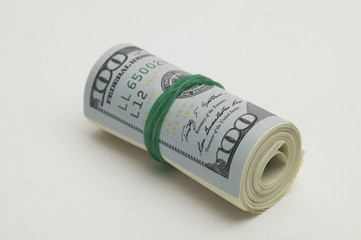 Rounded hundred dollar bill