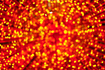 Abstract defocused christmas lights