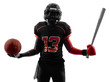all americans sports  football player  silhouette