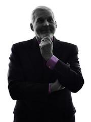 senior business man silhouette