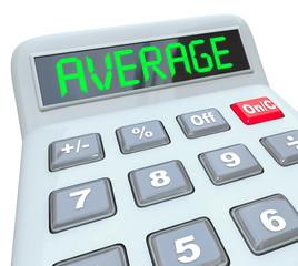 Average Word Calculator Adding Dividing Figuring Common Answer