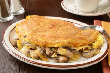 Mushroom cheese omelet