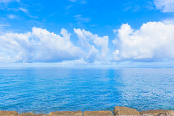 Blue ocean and sky in Okinawa