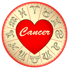 zodiac sign Cancer, for lovers on Valentine's day
