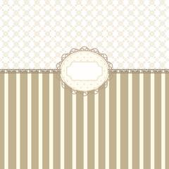 Vintage beige frame