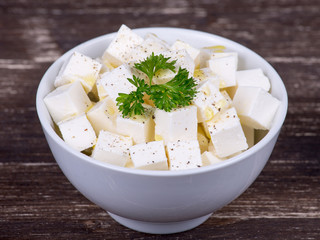 White greek cheese