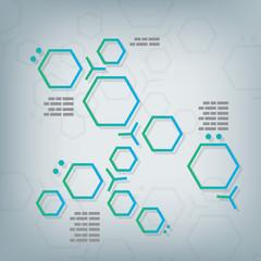 Science chemical hexagonal molecular