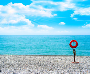 Image beautiful seashore and sunny sky