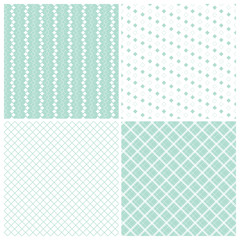 geometric seamless patterns, mint