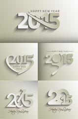 Set of New Year 2015 test design