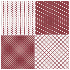 geometric seamless patterns, red