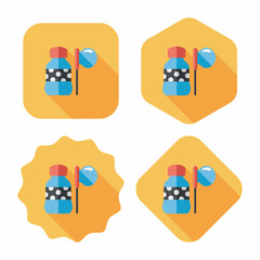 bubbles flat icon with long shadow,eps10