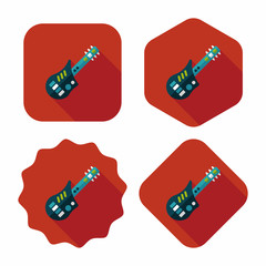 guitar toy flat icon with long shadow,eps10