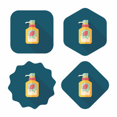 kitchenware dish soap flat icon with long shadow,eps10