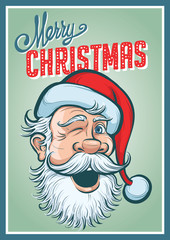 Christmas poster with Santa Claus