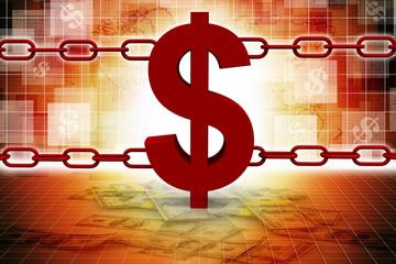 dollar symbol on chains