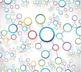 colorful atom link network illustration