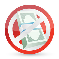 no money symbol illustration design