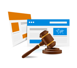 online legal law web concept. illustration design