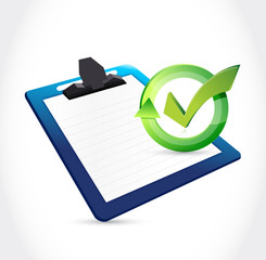 clipboard and check mark illustration
