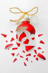 Broken Red Christmas tree ball
