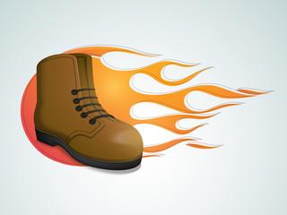 Stylish leather shoe for men.