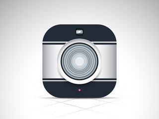 Stylish camera for photography.