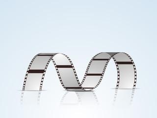 Concept of film stripe or film reel.