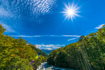 Yukawa and the blue sky