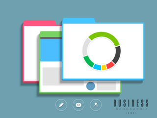 Creative business infographics with web icons.