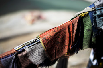 Prayer Flag and River Background