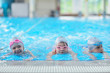 children group  at swimming pool - 74759397