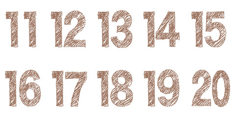 クレヨンタッチの数字