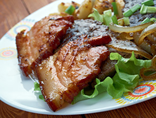 Calf liver and bacon